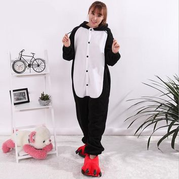 New Fashion Women's Character Animal Pajamas One Piece Full Sleeve Hooded Polyester Pajama Sets Pijama Animal Pajamas For Adults