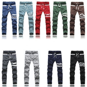 Men's Long Harem Pants Slim Fit Outdoors Straight Trousers [9305643143]