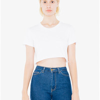 Fine Jersey Short Sleeve Cropped T-Shirt | American Apparel