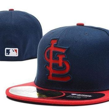 ESB8KY St. Louis Cardinals New Era MLB Authentic Collection 59FIFTY Hat Blue-Red
