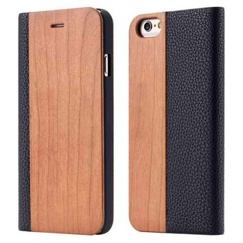 Custom Phone Cases Wooden Wallet Phone Case For Iphone and Samsung