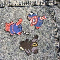 Super Hero Patch - Iron On Patch - Cute Patches - Kawaii Patches - Marvel Patch - Patches for Jacket - Cute Pin - Cute Badge -Iron Man Patch