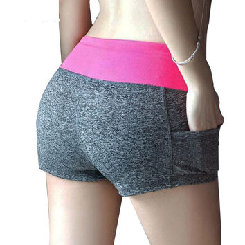 11 colors S-XL Fashion Women Sports Shorts Sexy Women's Casual Printed Cool Women With Pocket Fitness Running Short 4e 6b