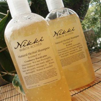 Herbal Shampoo 8oz   over 250 scents to choose by nikkicandles