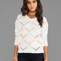 Jack by BB Dakota Cody Over Sized Cable Knit Pullover in Ivory