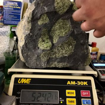 Olivine Peridot still in Matrix- Natural Specimen- 55 Pound- Rare Large Specimen- Home Decor \ August Birthstone \ Peridot \ Peridot Crystal