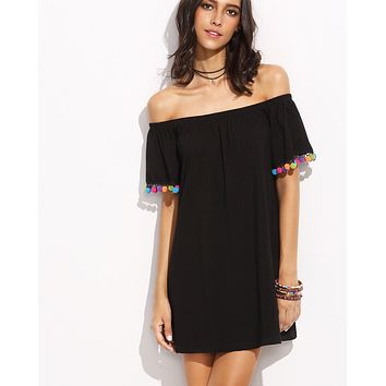 Gimme Those Shoulders Beach Cover-up Dress