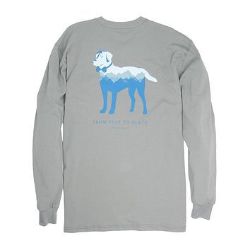 Long Sleeve Peak Party Animal Tee in Flint Grey by Southern Proper