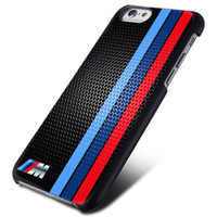 New BMW Stripe Logo Hard Plastic Case For iPhone 7/7s 6s 6s plus 5/5s 4/4s