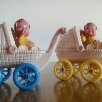 Fisher Price Dream Dollhouse Stroller and Baby Set of 2, Vintage Fisher Price Dream Dollhouse Nursery