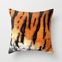 Tiger Fur Throw Pillow by Bluedarkat Lem