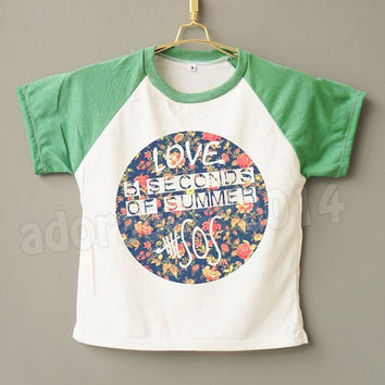 Kids Clothes Flower 5 Second Of Summer T-Shirt 5Sos Shirt Flower Shirt Kids Short Sleeve Short Baseball Shirt Jersey Kids Shirt Kids T-Shirt