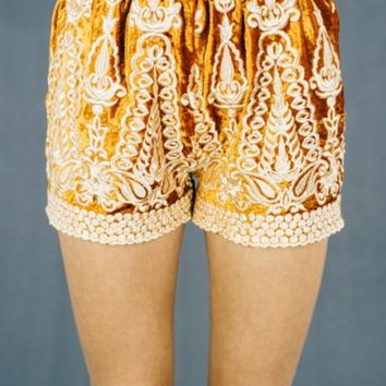MUSE shorts - rust velvet - LENNI the label