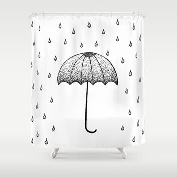 In The Rain Shower Curtain by Cinema4design