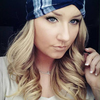 Plaid Navy Grey and White Twist Headband