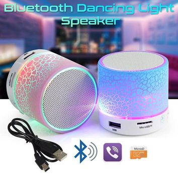 Portable Mini Bluetooth Speakers LED Wireless Small Stereo Sound Music Audio TF USB Light Speaker With Mic For Phone Xiaomi