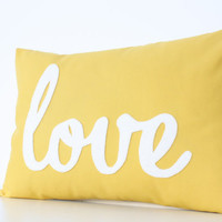 Yellow Love PIllow - Home and Living / Decor and Housewares
