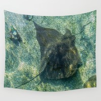 The Stingray Wall Tapestry by Gwendalyn Abrams