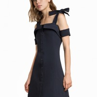 CAMDEN SHOULDER TIE NAVY DRESS -15% OFF