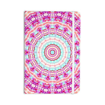 "Iris Lehnhardt ""Happy"" Circle Pink Everything Notebook"