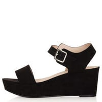 HEAVENLY Two Part Wedges - Black