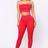 Bondoc III Pant Set - Red