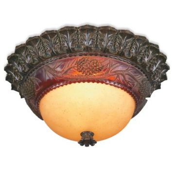 Pacific Coast Lighting®  Pine Cone Glow 2-Light Flush Mount Ceiling Lamp