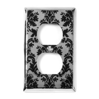 Damask Outlet Cover   | Icing