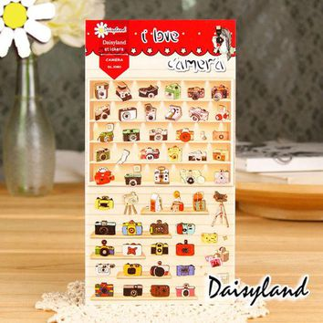 VONC1Y 1 x Daisyland I Love Camera adhesive paper sticker decorative DIY scrapbooking sticker post it kawaii stationery