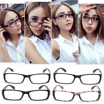 Men's Women's Glasses Frame Eyeglasses Vintage Spectacles Optical Len Clear Chic