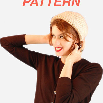 Versatile Unisex Toboggan Beanie Hat Digital Pattern, Crochet Hat PATTERN PDF Download,