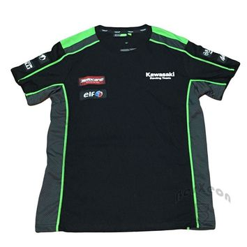 Tops & Tees Brand New Clothing 100% Cotton MOTOGP Team T-shirt Kawasaki T-Shirt Summer Motorcycle T-Shirt Casual T shirts