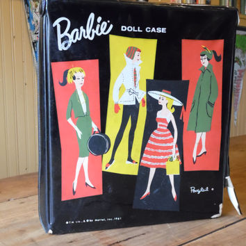 FREE SHIPPING - Barbie Doll Case/1961 Mattel Doll Case/Mattel Doll Case/Vintage Barbie Case/Mattel Barbie/Barbie Case/1961 Doll Case
