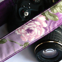 dSLR Camera Strap. Canon Camera Strap. Nikon Camera Strap. Purple Camera Strap. Women Accessories.