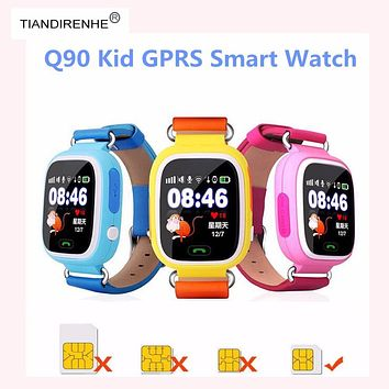 TIANDIRENHE latest GPS smart watch baby Q90 touch screen SOS Call Location DeviceTracker Kids Safe Anti-Lost Monitor Smartband