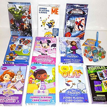 Bundle: 3 Packs Of Jumbo Disney Frozen Doc Mc Stuffins Cards With Marbles-Colors and Styles Of Cards Will Vary