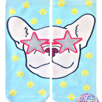 Frenchie Fame Ankle Socks