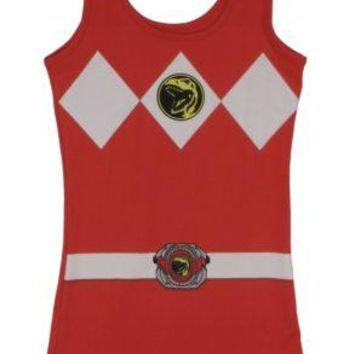 Power Rangers I Am Red Ranger Costume Sexy Tunic Tank Dress