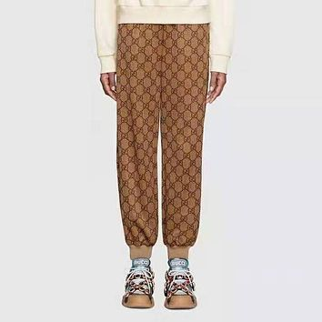 GUCCI Popular Women Retro Print Sport Pants Sweatpants
