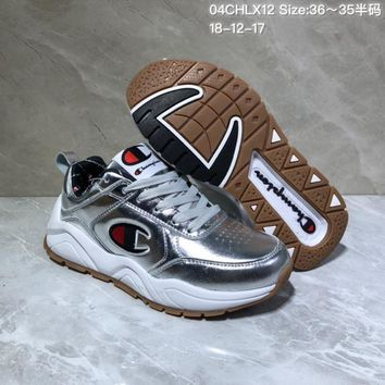 DCCK C027 Champion x Casbia Awol Atlanta Leather Sneaker Ratro Casual Running Shoes Sliver