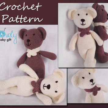 Amigurumi  Pattern Crochet, Bear, Teddy Bear, Animal Crochet Pattern, CP-106