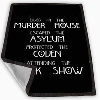 American Horror Story Four Seasons Blanket for Kids Blanket, Fleece Blanket Cute and Awesome Blanket for your bedding, Blanket fleece *