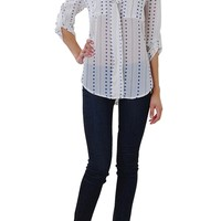 Lucky Star Blouse - Chiffon Long Sleeve Top - Humblechic.com