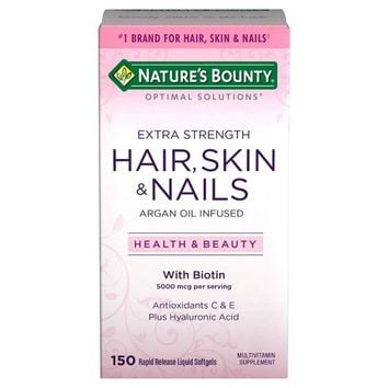 Optimal Solutions Extra Strength Hair Skin and Nails Dietary Supplement Softgels - 150ct