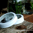 White Mason Jar Flower Frog LIDS  Set of 2  by TheCountryBarrel
