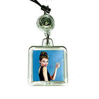 Audrey Hepburn Breakfast At Tiffany's Cell Phone Blinking Flashing Charm