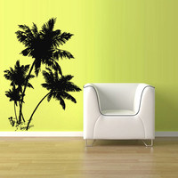 Wall Vinyl Sticker Decals Decor Art Bedroom Kids Design Mural Palm Tree Beach Vacation Ocean Sea Sun (z2689)