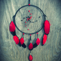 Dream Catcher with Onyx and Carnelian