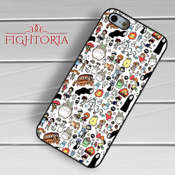 Ghibli Characters - zzZzz for  iPhone 4/4S/5/5S/5C/6/6+s,Samsung S3/S4/S5/S6 Regular/S6 Edge,Samsung Note 3/4