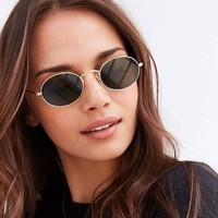 Kaia Polarized 90s Oval Sunglasses